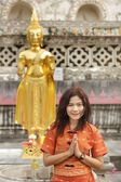 Asian woman praying — Stock Photo
