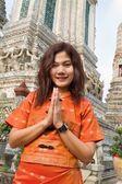 Thai woman praying — Stock Photo
