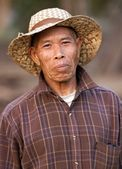 Asian farmer portrait — Stock Photo