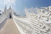 Buddhism white temple — Stock Photo