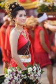 Thai woman in traditional clothes — Stock Photo