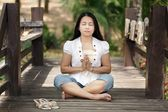 Yoga in nature — Stock Photo