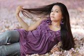 Schoonheid aziatische vrouw in slaap — Stockfoto