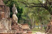 Alte buddha-statue — Stockfoto