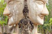 Stone buddhist statue in thailand — Stock Photo