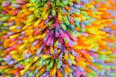 Colorful straw background — Stock Photo
