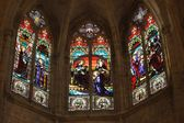 Detail of french gothic church — Stock Photo