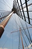 Galleon mat and ropes — Stock Photo