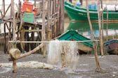 Arrastão no porto — Fotografia Stock
