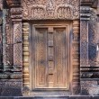 Stock Photo: Khmer temple door