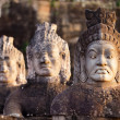 Angkor south door statues - Stock Photo