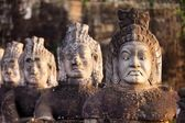 Angkor south door statues — Stock Photo
