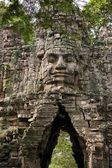 Angkor Thom west gate — Stock Photo