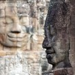 Bayon temple face - Stock Photo