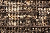 Carved temple wall — Stock Photo