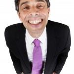 podnikatel dává laciný úsměv — Stock fotografie