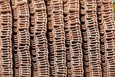 Stack of unused roof tiles — Stock Photo