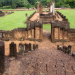 Stock Photo: Khmer temple ruins