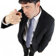 Man pointing a finger in accusation — Stock Photo