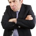 Unhappy businessman — Stock Photo