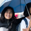 Two Filiapina girls under an umbrella — Stock Photo #42458645