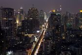 Bangkok city center at night — Stock Photo
