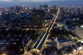 Bangkok city center at night — Foto Stock