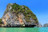 Steep limestone island — Stock Photo