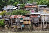 Shanty homes in Philippines — Stock Photo