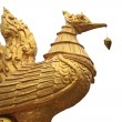 Thai traditional golden swan isolated on white — Stock Photo