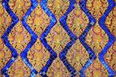 Ancient Thai floral art painting on temple — Stock fotografie