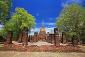 Sukhothai landmark, Wat Chang Lom — Stock Photo