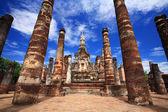 Wat Mahathat in Sukhothai historical park, Thailand — Stock Photo