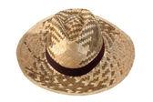 Straw farmer hat — Stock Photo