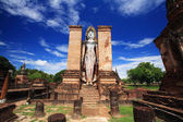 Sukhothai historical park - wat Mahathat landmark — Foto de Stock