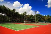 Canchas de tenis al aire libre — Foto de Stock