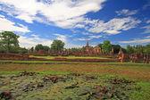 Mahathat temple in Sukhothai Historical Park,Thailand — Stock Photo