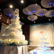 Stock Photo: Wedding cake reception party