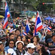 Stock Photo: Thai protesters rally to democracy monument