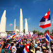 Protesters at Democracy Monument to anti amnesty bill — Stock Photo #39106641
