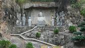 Chinese Buddha stone statues in Shenzhen — Stock fotografie