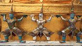 Hanuman Guardian statues of Wat Pra Kaew — Foto Stock