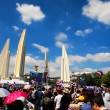 Protesters at Democracy Monument to anti government amnesty bill — Stock Photo #39177131