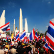 Anti government protesters at Democracy Monument — Stock Photo #39178589
