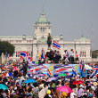 Stock Photo: Thai protesters gather at King Ram5 statue