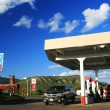 Gas station with self serve pumps in USA — Stock Photo #39184309