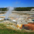 Stock Photo: Steaming pool of Geysers in Yellowstone