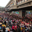 Stock Photo: Thai protesters gather at Siam