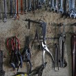 Stock Photo: Collection of garage tools