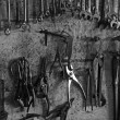 Collection of garage tools — Stock Photo